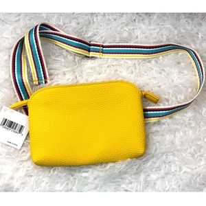 Nordstrom yellow belt sling pouch